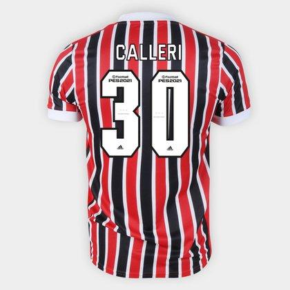 Camisa São Paulo II 21/22 Calleri Nº 30 Torcedor Adidas Masculina
