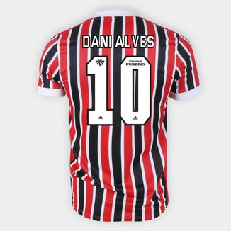 Camisa São Paulo II 21/22 Dani Alves Nº 10 Torcedor Adidas Masculina