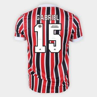 Camisa São Paulo II 21/22 Gabriel N. Nº 15 Torcedor Adidas Masculina