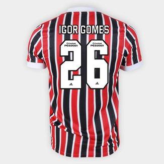 Camisa São Paulo II 21/22 Igor Gomes Nº 26 Torcedor Adidas Masculina