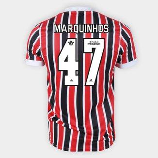 Camisa São Paulo II 21/22 Marquinhos Nº 47 Torcedor Adidas Masculina