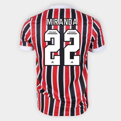 Camisa São Paulo II 21/22 Miranda Nº 22 Torcedor Adidas Masculina