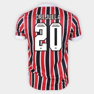 Camisa São Paulo II 21/22 Orejuela Nº 20 Torcedor Adidas Masculina