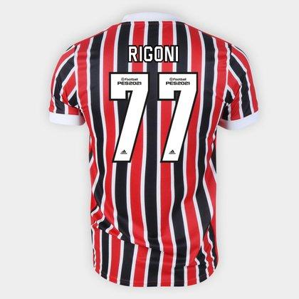 Camisa São Paulo II 21/22 Rigoni Nº 77 Torcedor Adidas Masculina