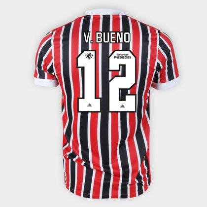 Camisa São Paulo II 21/22 V. Bueno Nº 12 Torcedor Adidas Masculina