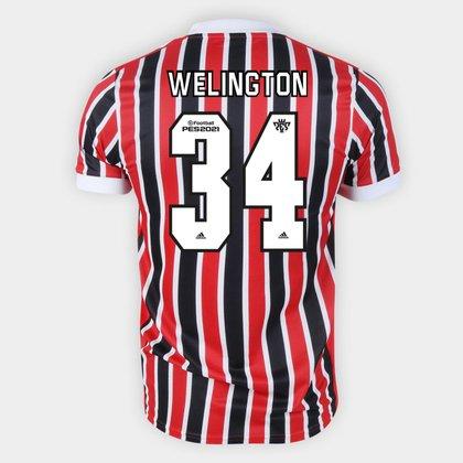 Camisa São Paulo II 21/22 Welington Nº 34 Torcedor Adidas Masculina