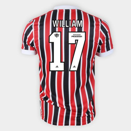 Camisa São Paulo II 21/22 William Nº 17 Torcedor Adidas Masculina