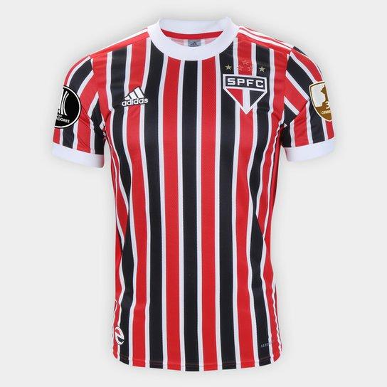 Camisa São Paulo II Libertadores 21/22 s/n° Torcedor Adidas Masculina - Vermelho+Branco