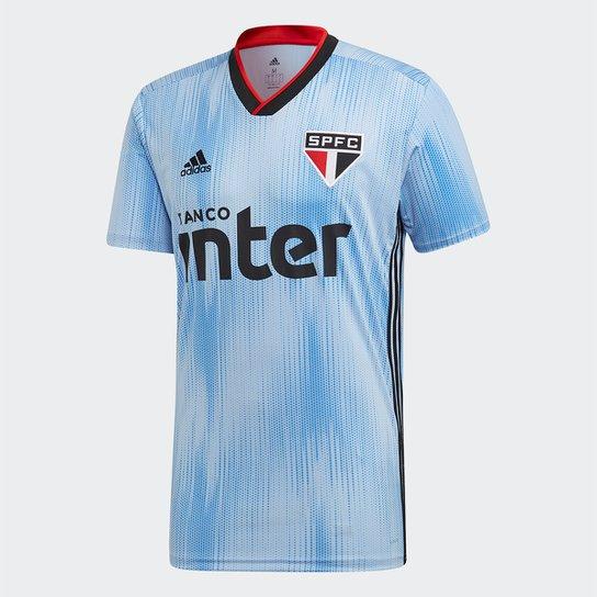 Camisa São Paulo III 19/20 s/n° Torcedor Adidas Masculina - Azul+Vermelho