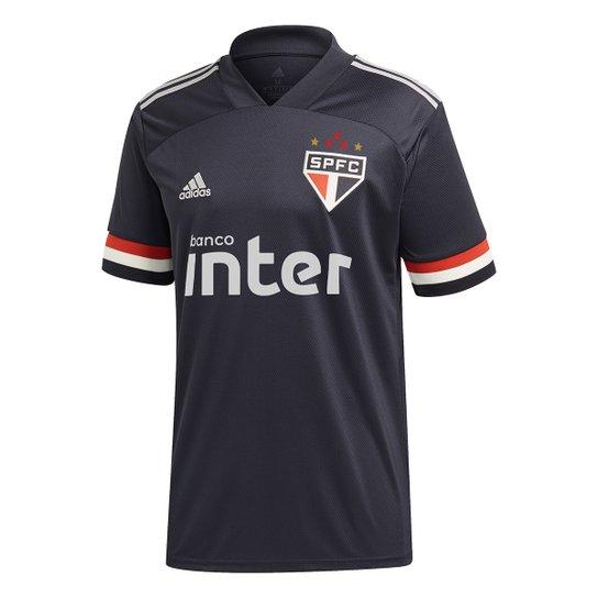 Camisa São Paulo III 20/21 s/n° c/ Patrocínio Torcedor Adidas Masculina - Cinza