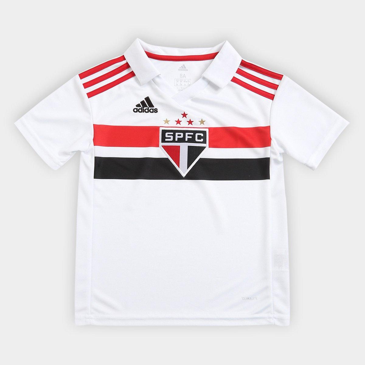 5c702c05c4 Camisa São Paulo Infantil I 2018 s/n° Torcedor Adidas - Branco e Vermelho | São  Paulo Mania