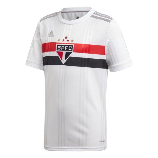 Camisa São Paulo Infantil I 20/21 s/n° Torcedor Adidas - Branco+Vermelho