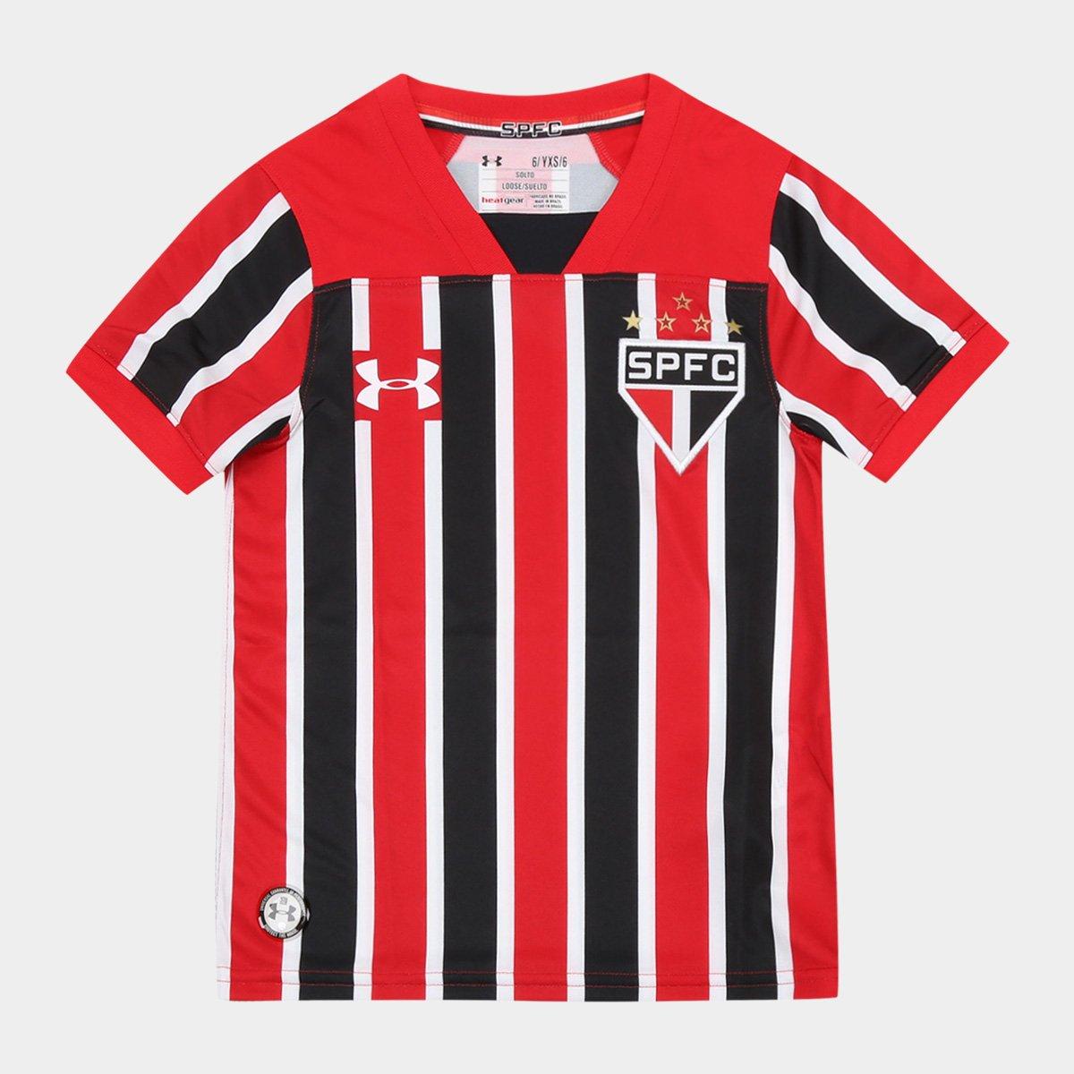 Camisa São Paulo Infantil II 17 18 s nº Torcedor Under Armour ... cba275e607e39