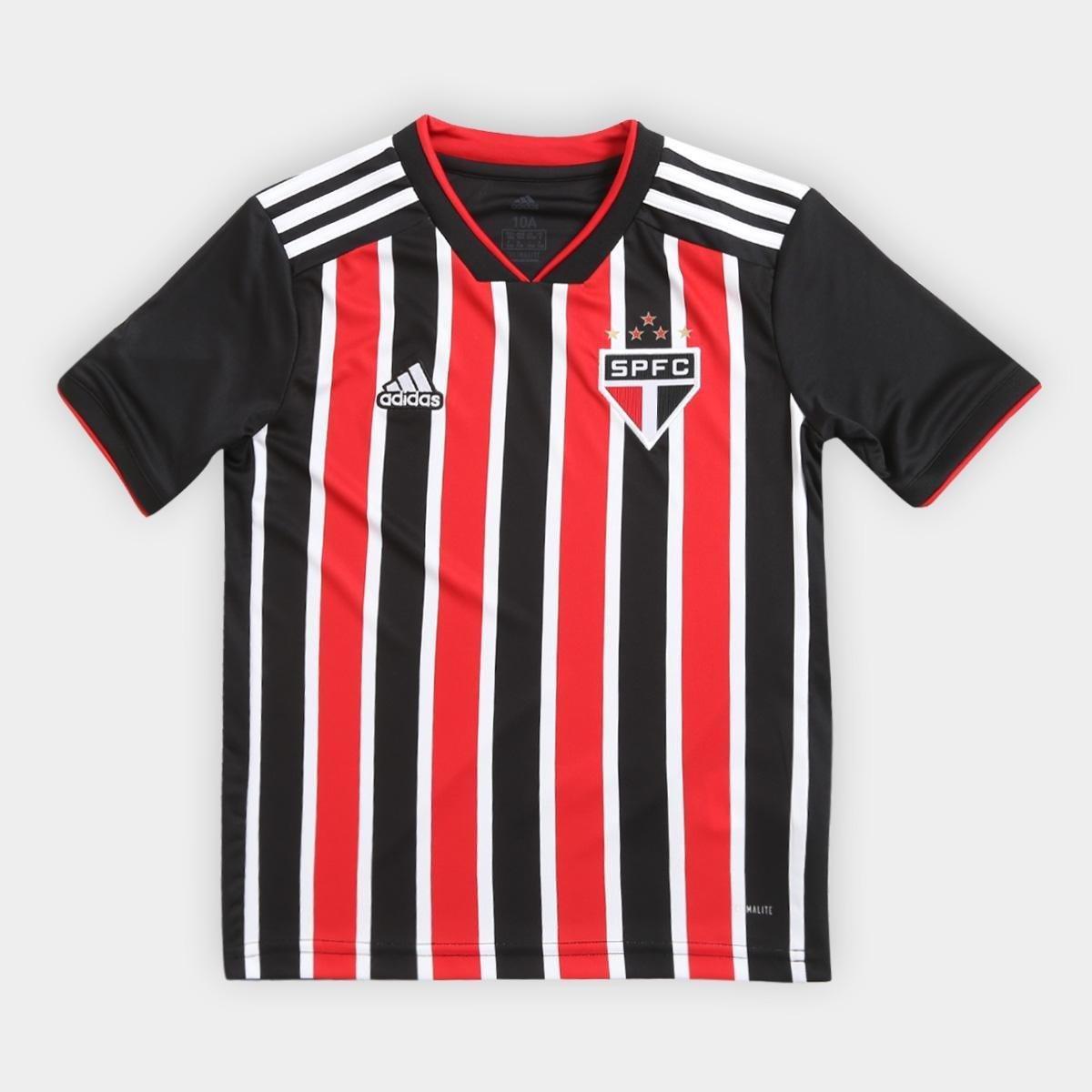 Camisa São Paulo Infantil II 2018 s n° Torcedor Adidas - Vermelho e ... b68bb98c34dc6