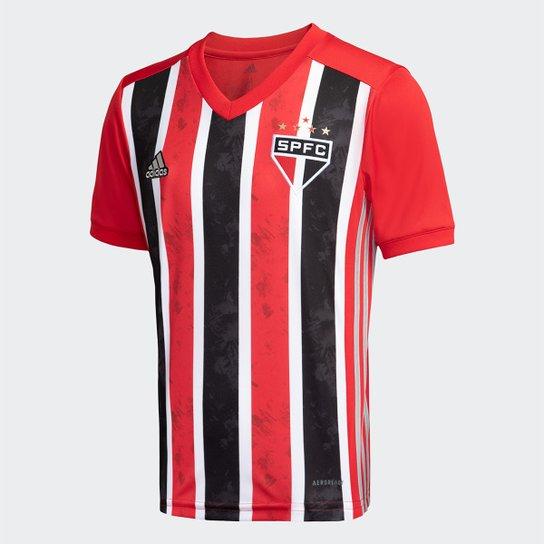 Camisa São Paulo Infantil II 20/21 /nº Torcedor Adidas - Vermelho+Branco