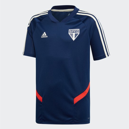 Camisa São Paulo Infantil Treino 2019 Adidas - Azul
