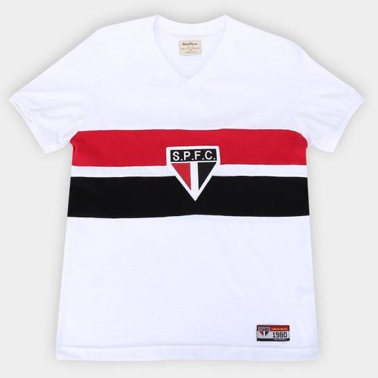 Camisa São Paulo Juvenil 1980 Retrô Mania - Branco