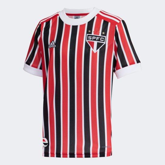 Camisa São Paulo Juvenil II 21/22 s/n° Torcedor Adidas - Vermelho+Branco