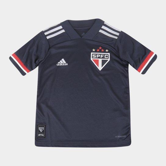 Camisa São Paulo Juvenil III 20/21 s/n° Torcedor Adidas - Cinza
