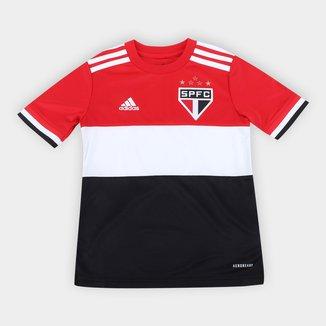 Camisa São Paulo Juvenil Tricolor 21/22 s/n° Torcedor Adidas