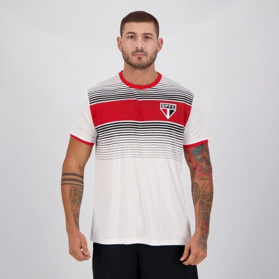 Camisa São Paulo Label Masculina - Branco