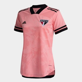 Camisa São Paulo Outubro Rosa 20/21 s/n° Torcedor Adidas Feminina