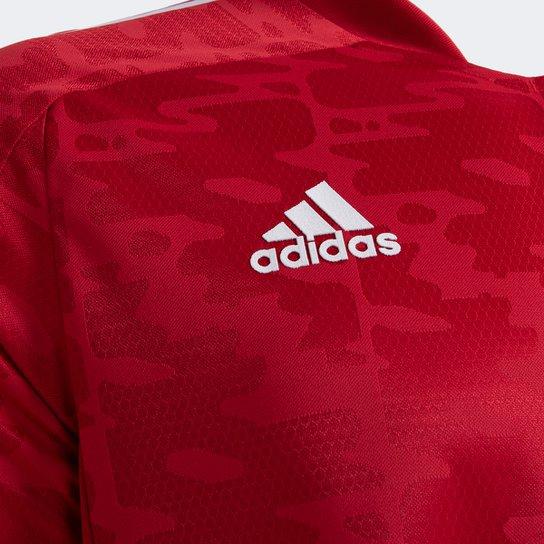 Camisa São Paulo Pré-Jogo 21/22 Adidas Masculina - Vermelho+Branco