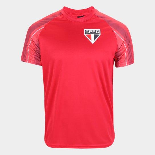 Camisa São Paulo Raglan Classic Masculina - Vermelho