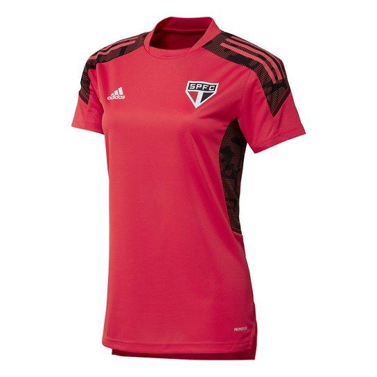 Camisa São Paulo Treino 21/22 Adidas Feminina - Vermelho