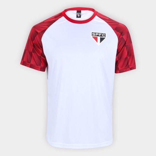Camisa São Paulo Winner Masculina - Branco+Vermelho
