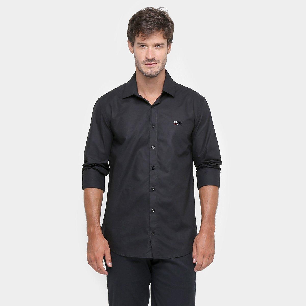 Camisa Social São Paulo Masculina - Compre Agora  eb3dbe9567ded