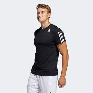 Camiseta Adidas Aero Primeblue 3 Listras Masculina