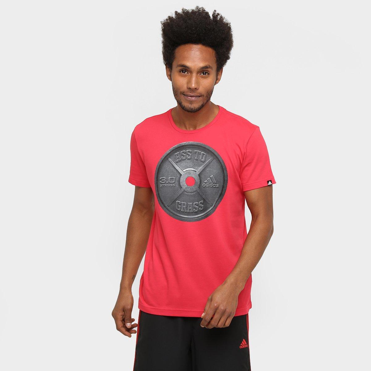 c249ace68b Camiseta Adidas Ass To Grass Masculina - Vermelho - Compre Agora ...