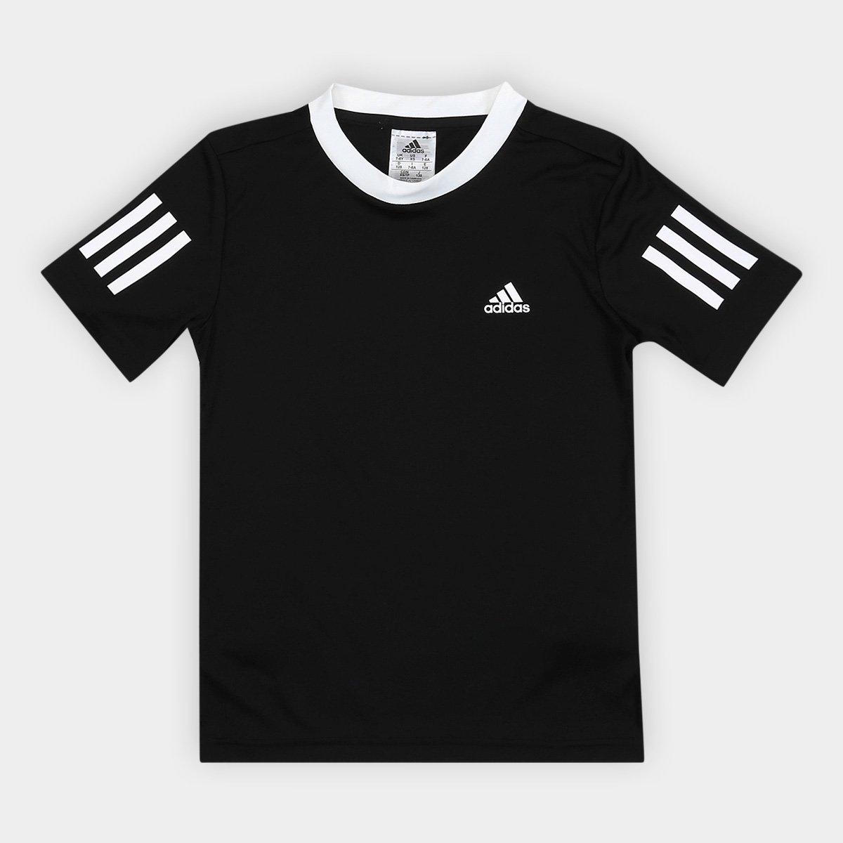 8124f6682f8ec Camiseta Adidas B Club Proteção UV Infantil Masculina - Preto - Compre Agora