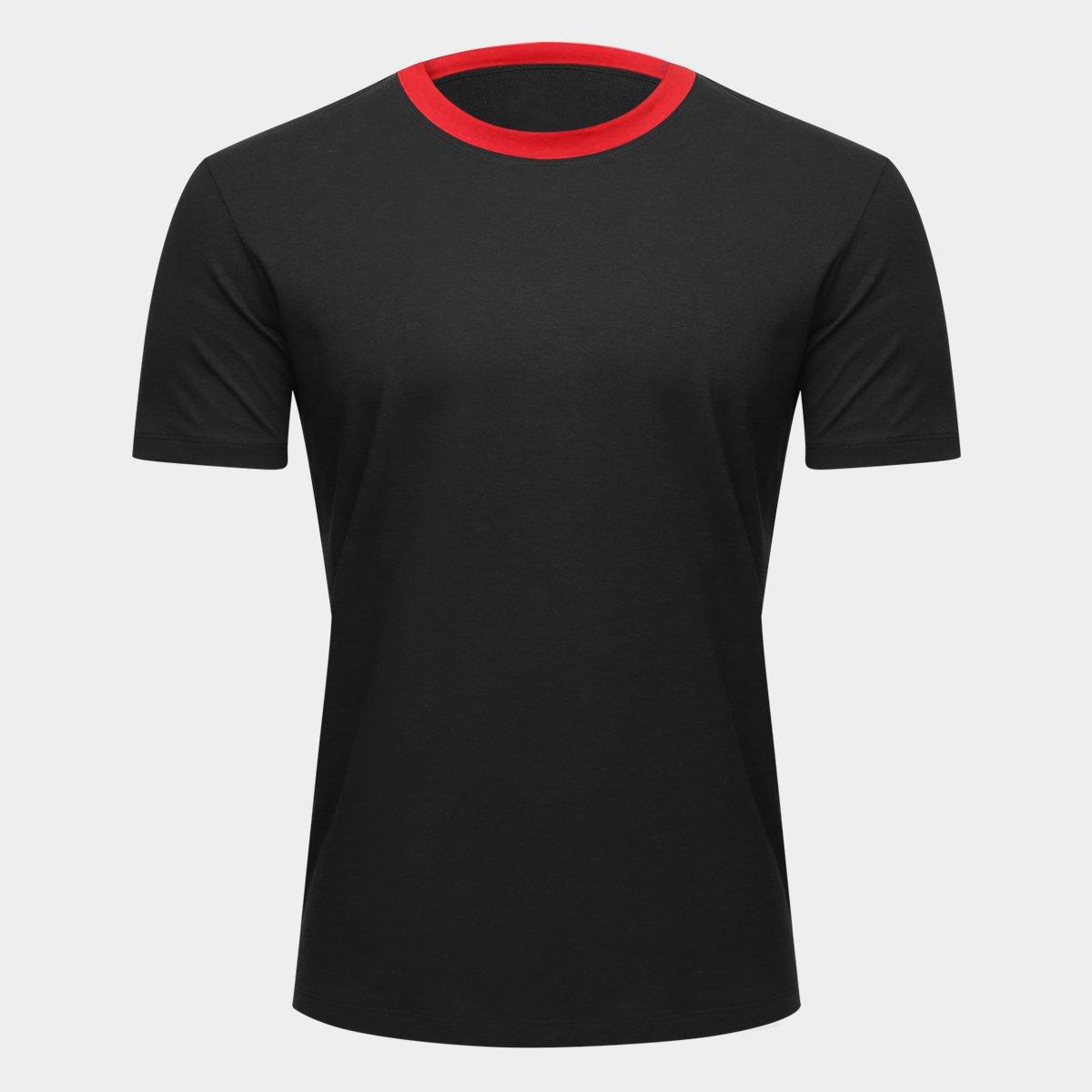a4837a6e4fd Camiseta Adidas Blank Masculina - Preto e Vermelho - Compre Agora ...