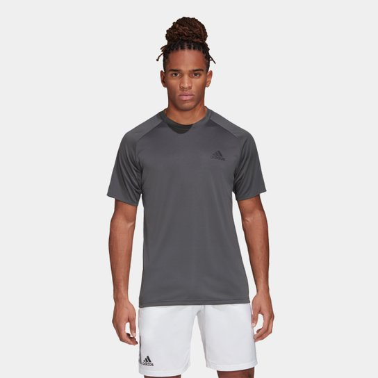 Camiseta Adidas Club Masculina - Cinza