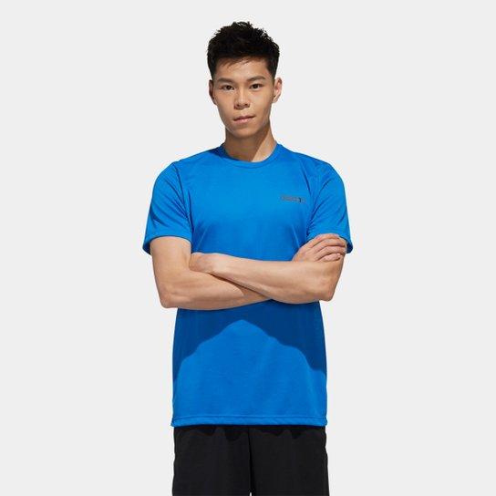 Camiseta Adidas D2M Feel Ready Masculina - Azul