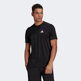 Camiseta Adidas D2M Plain Masculina