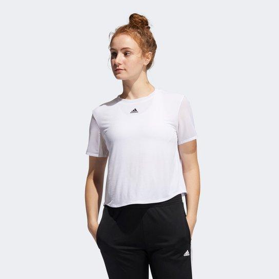 Camiseta Adidas Dance Feminina - Branco+Preto
