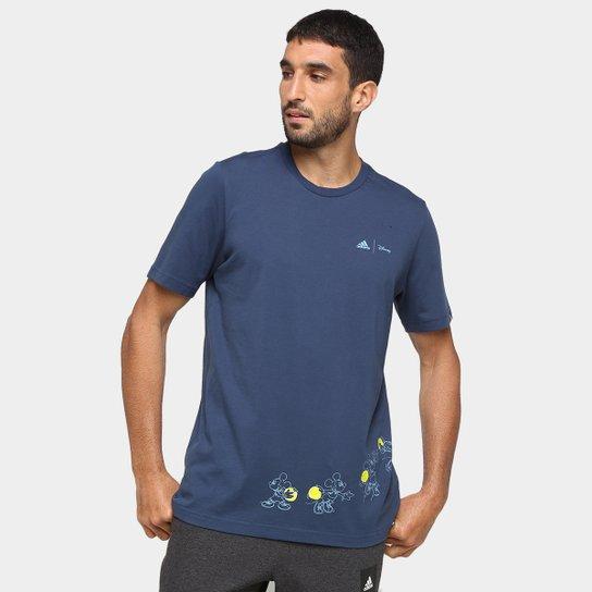 Camiseta Adidas Disney Basket Masculina - Azul