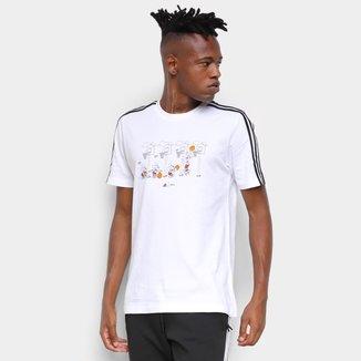 Camiseta Adidas Disney Cesta 3 Listras Masculina