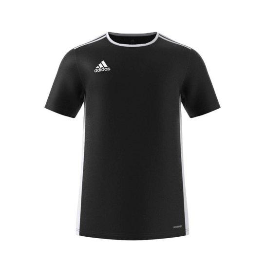 Camiseta Adidas Entrada 18 Masculina - Preto+Branco