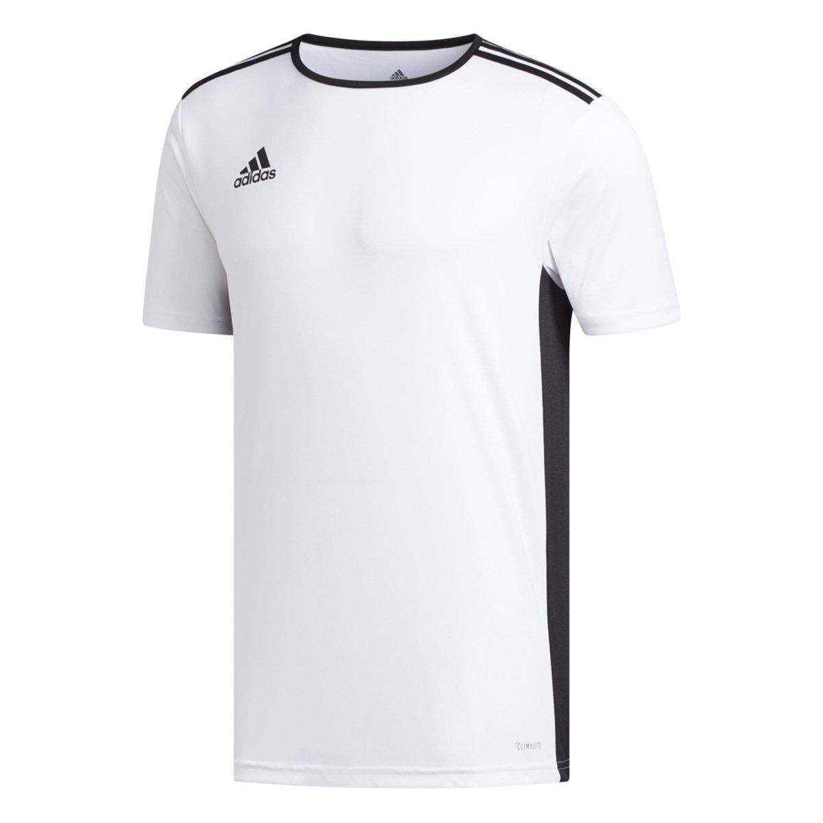 Camiseta Adidas Entrada 18 Masculina - Branco e Preto - Compre Agora ... 6a630c0675f