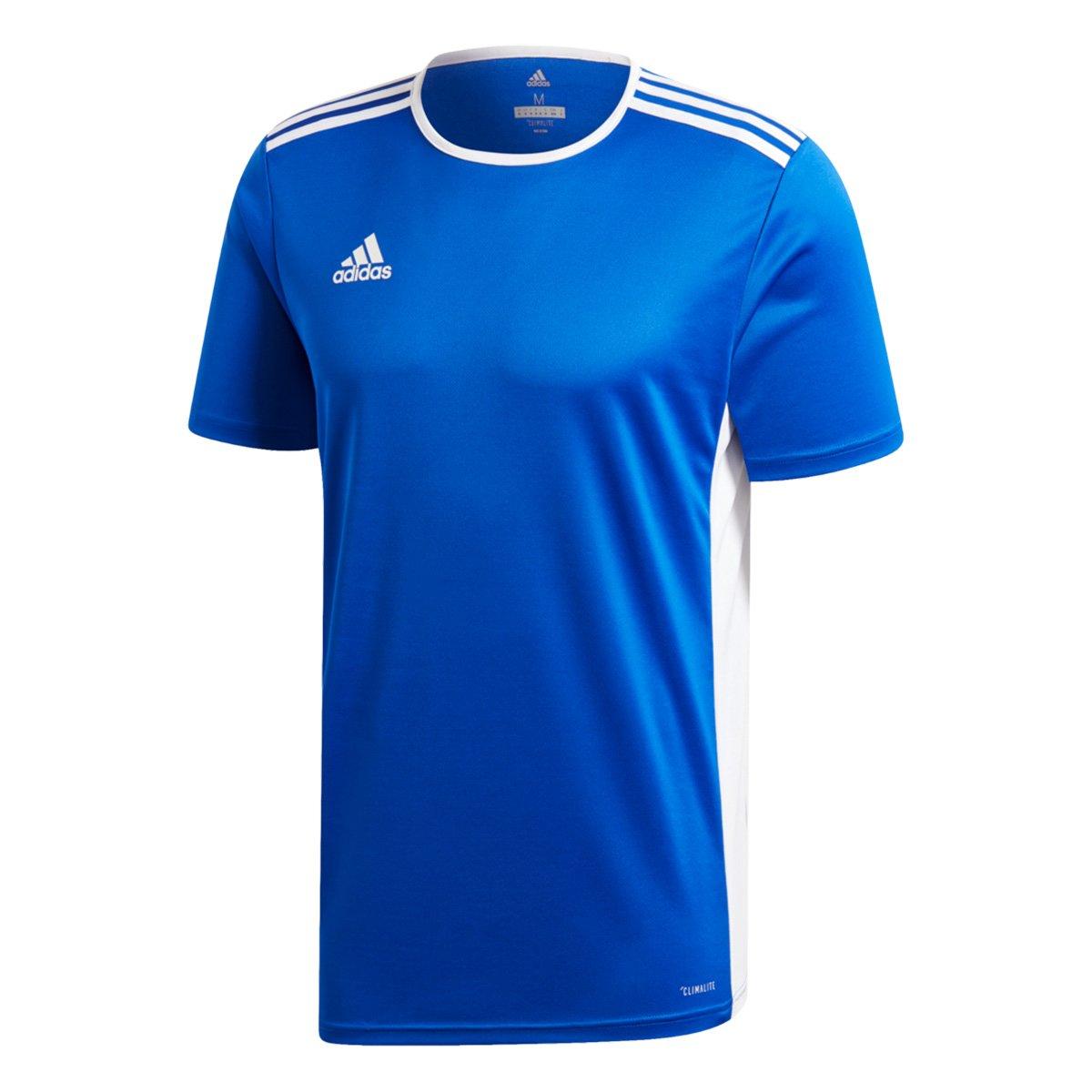 549cf4eeadd4e Camiseta Adidas Entrada 18 Masculina - Azul e Branco - Compre Agora ...