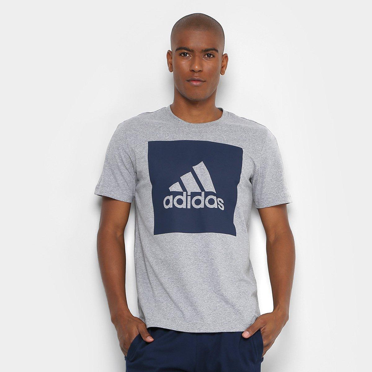 c0b356174f ... Camiseta Adidas Ess Biglogo Masculina - Cinza - Compre Agora São .