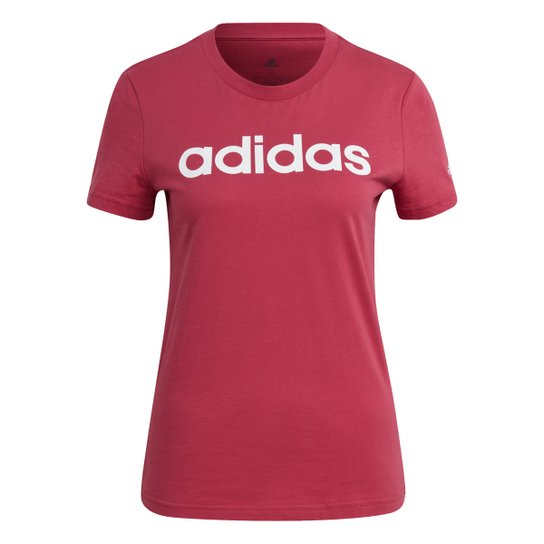 Camiseta Adidas Essentials Linear Feminina - Roxo