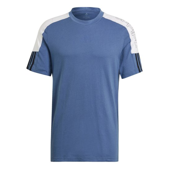 Camiseta Adidas French Colorblock Linear Masculina - Azul