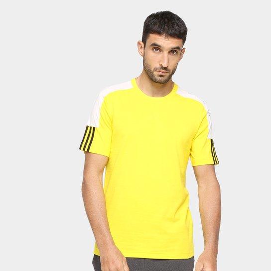 Camiseta Adidas French Colorblock Linear Masculina - Amarelo