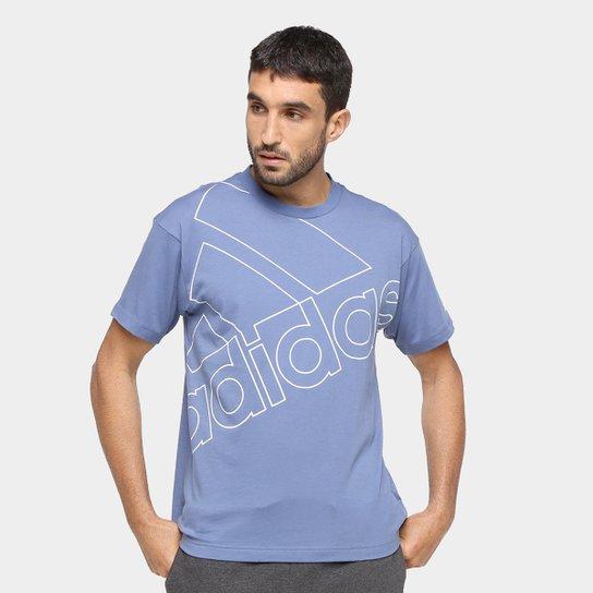Camiseta Adidas Gráfica Favourites Q1 - Azul+Branco
