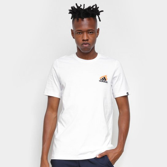 Camiseta Adidas Gráfica Onfire Masculina - Branco